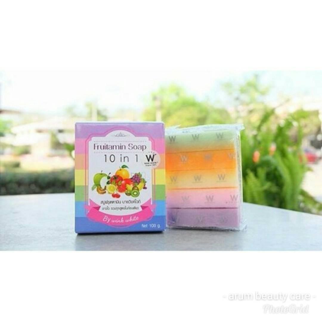 Review Fruitamin Soap Asli Dan Palsu Wa 0878 5501 2637 Jual Sabun Buah Pelangi Thailand 10 In 1 Original Order